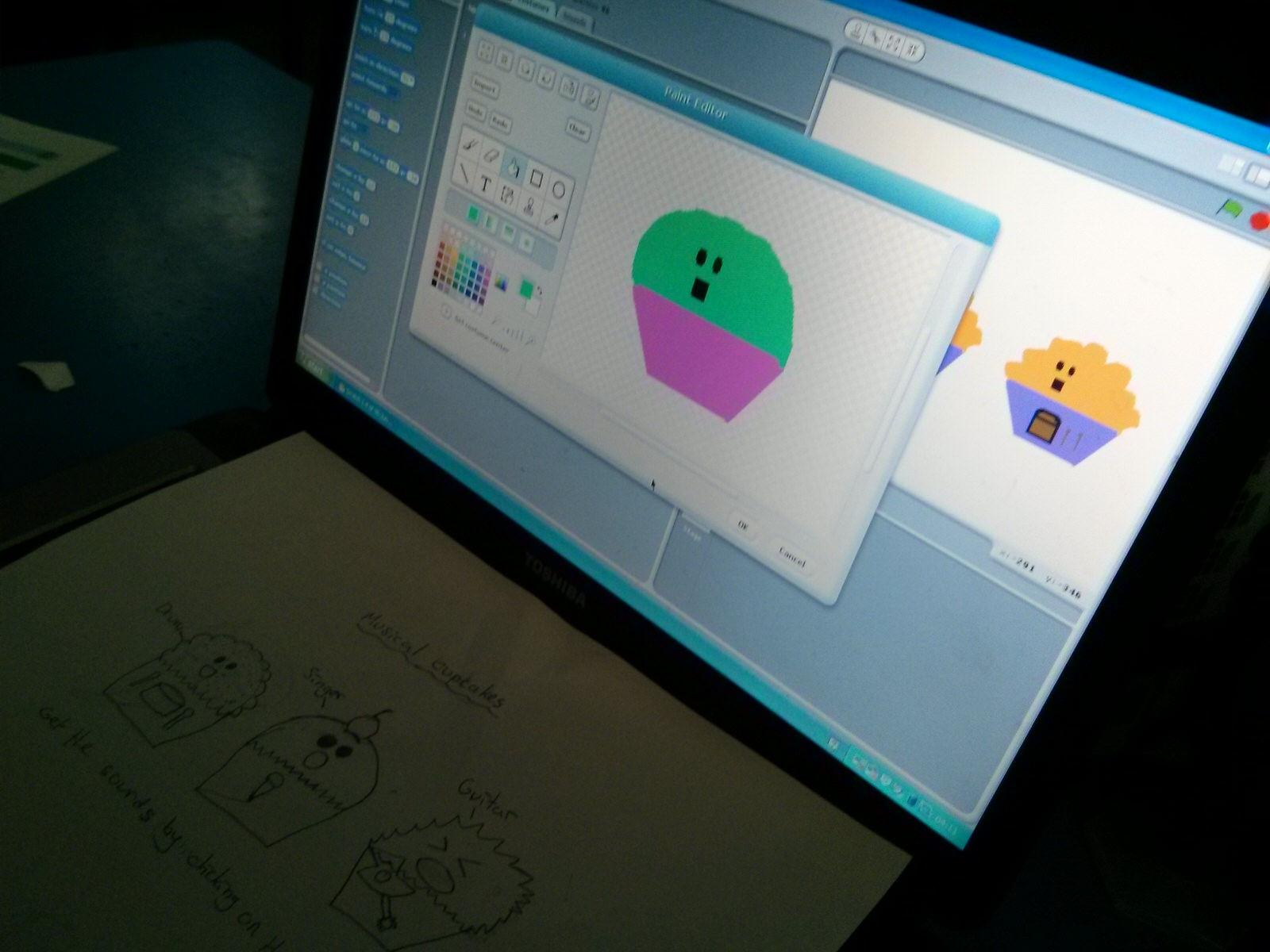 Creating digital characters in Scratch